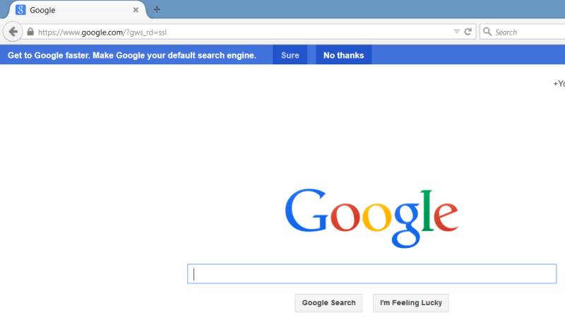 Google Suggesting Firefox Users Change Their Search Engine