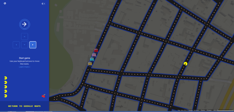 Google pac-map screen