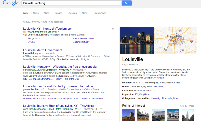 Hotel bookings in knowledge graph