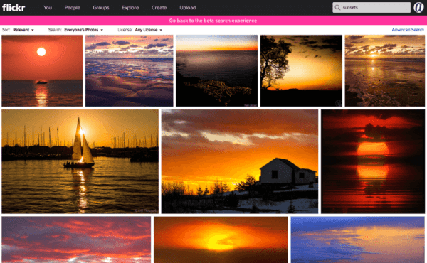 Flickr Testing Improved Search Experience [PHOTOS ...