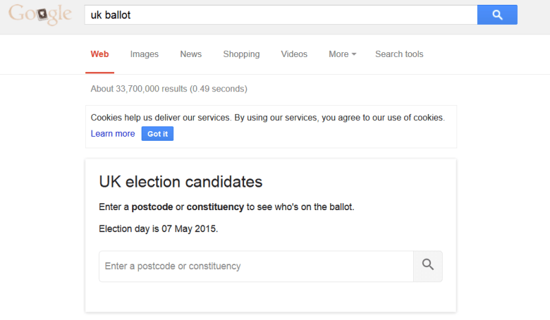 Google UK elections 2015