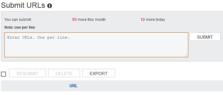 Submit URLs