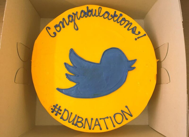 Golden State Warriors Championship Twitter Cake