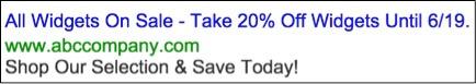 Image of static widget ad