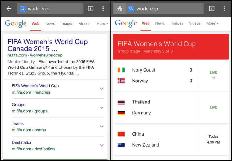 ios vs android world cup results