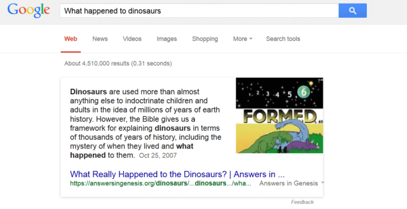 what happened to dinosaurs search
