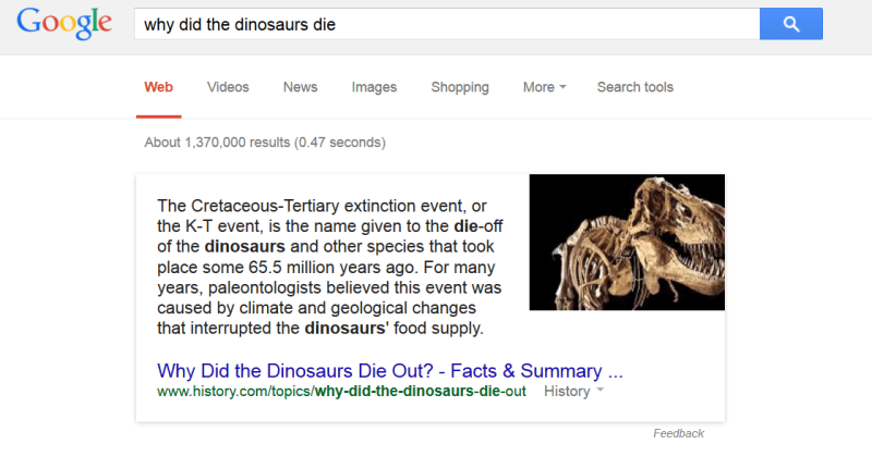 why did the dinosaurs die