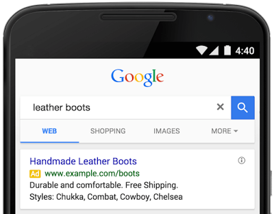 adwords structured snippets extension
