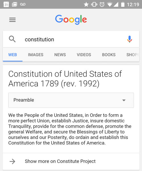Constitution sesarch result