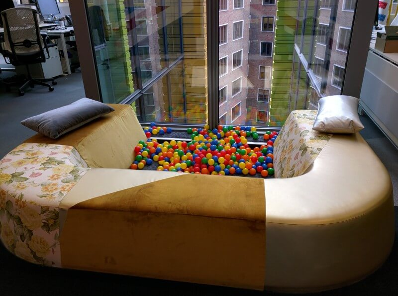 Google Ball Pit Sofa