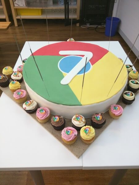 Google Chrome 7th Birthday Cake