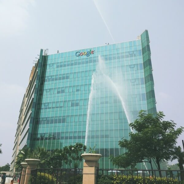 Google India Office Building Gets A Hose Down