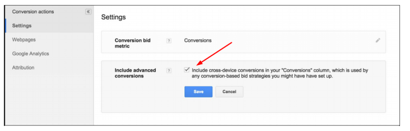 cross-device conversions automated bidding