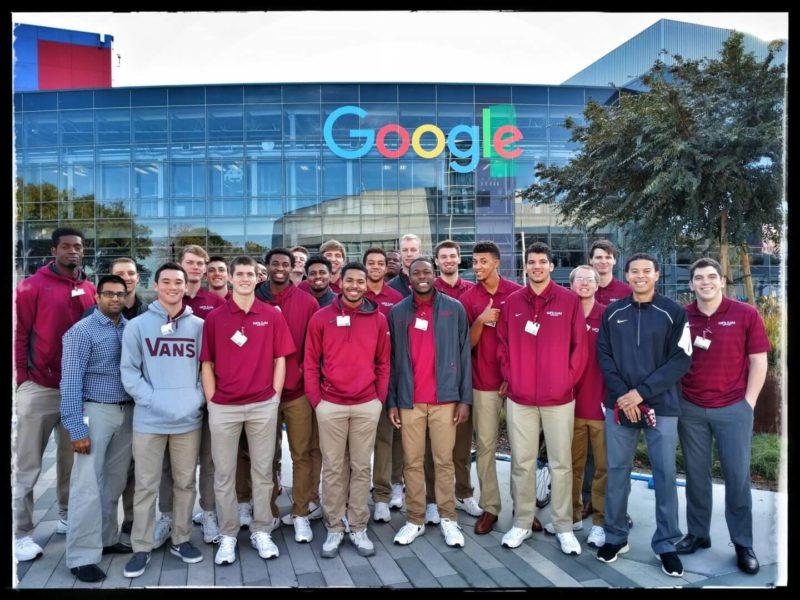 Google Hosts The Santa Clara University Men's Basketball Team
