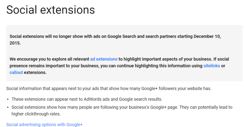 adwords-social-ad-extensions-sunset