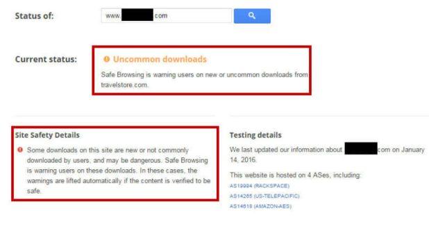 Google Transparency Diagnostic Tool