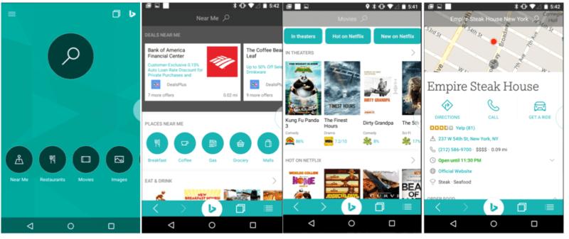 New Bing app