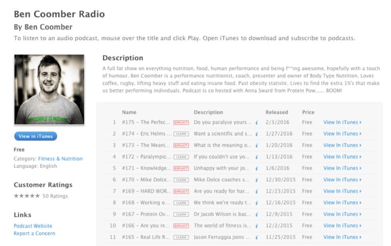 iTunes Audio Interviews