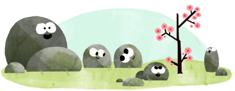 First day of spring google logo