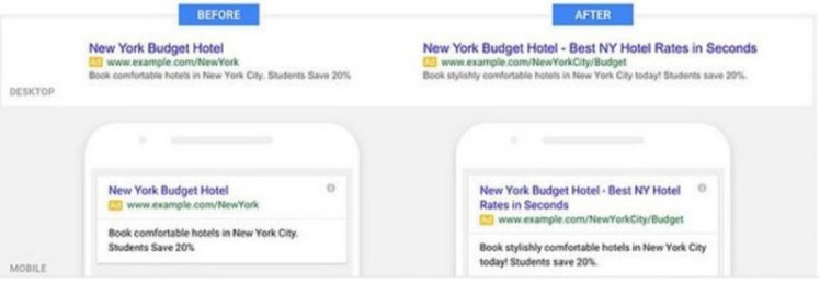 adwords expanded text ads with two headlines