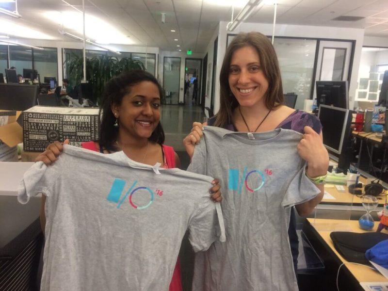 Google IO 2016 t-shirts