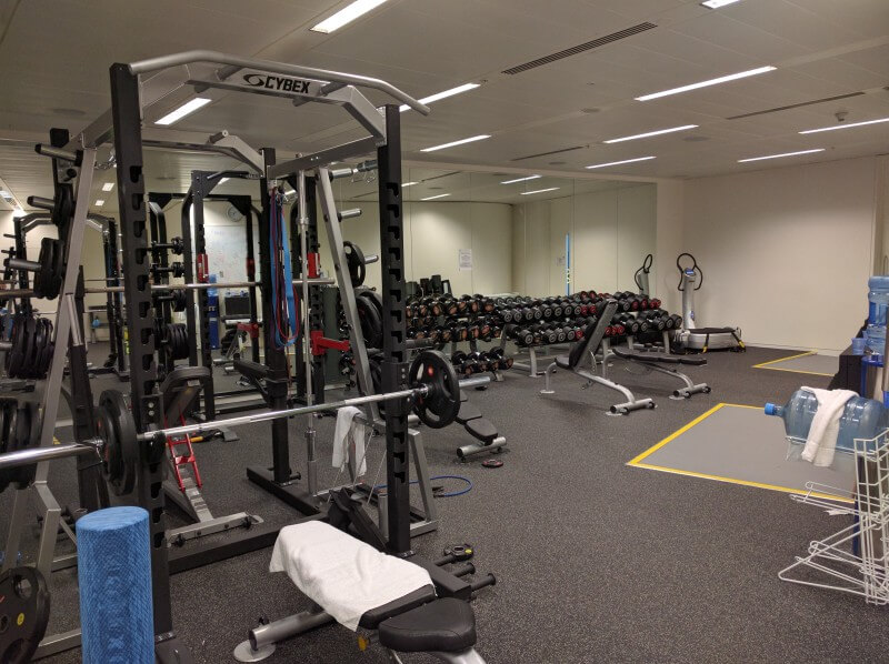 Google London new weight training room
