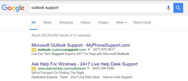 tech support ads google