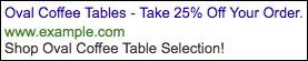 Image of double headline ad