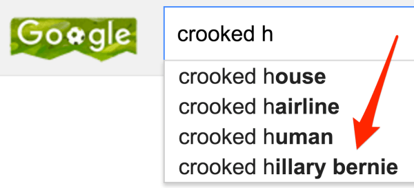 Google crooked hillary