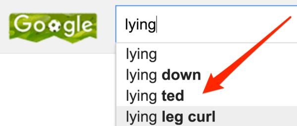 Google lying ted