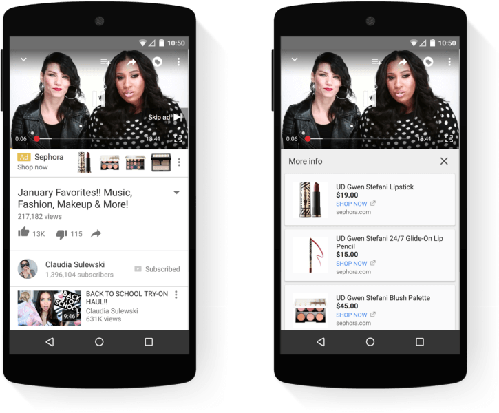 youtube trueview for shopping branding