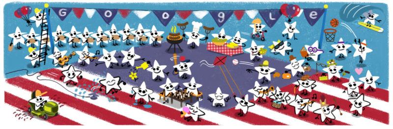 july 4 google doodle 2016