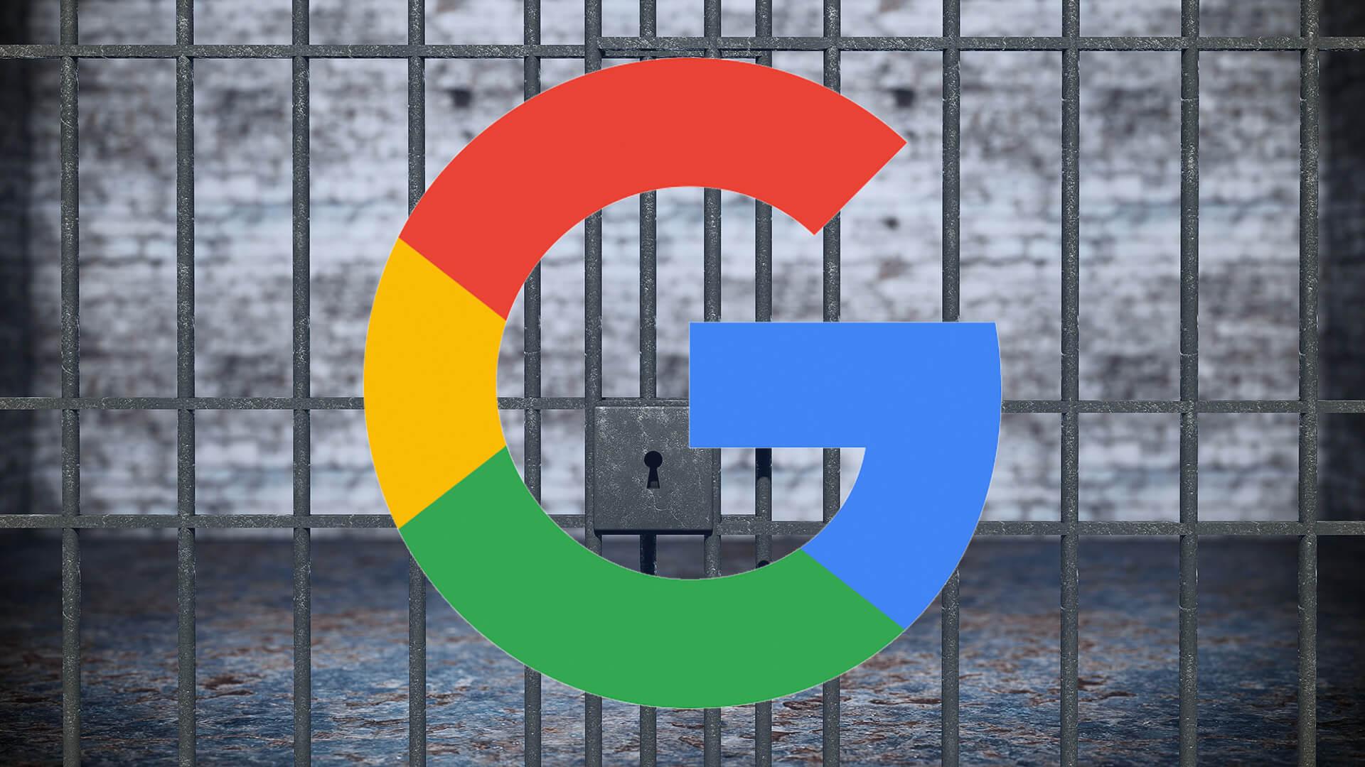 Resultado de imagen de google prohibited