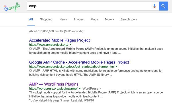 Google AMP breaks the desktop search results - Search ...