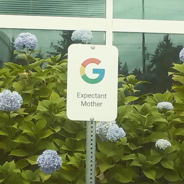 google-expectant-mother-sign