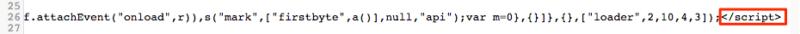 Closing script tag of inline JavaScript