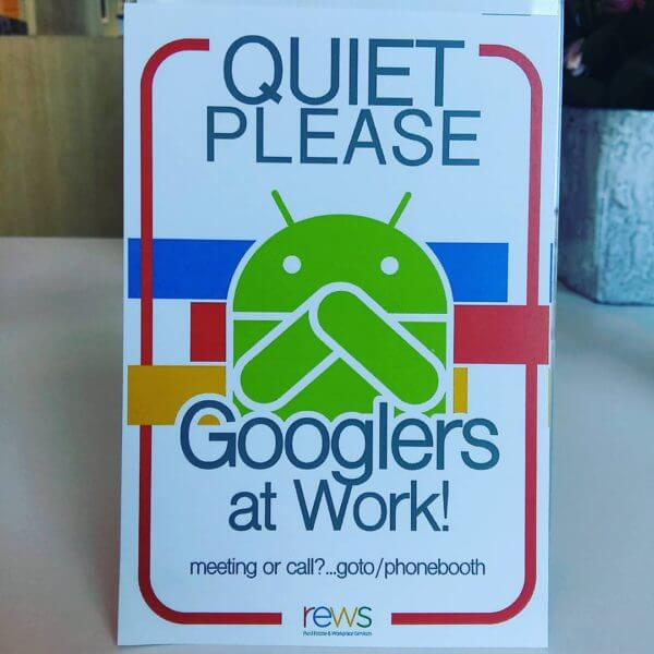 google-quiet-sign