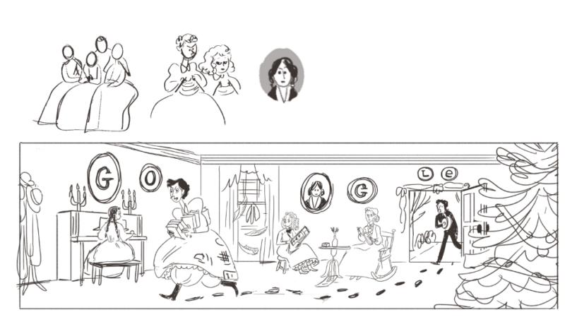 louisa-may-alcott-sketches
