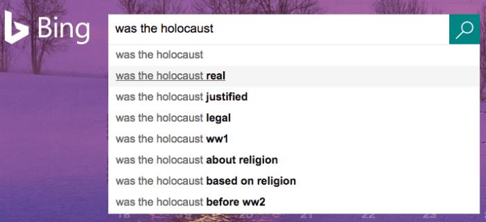 bing holocaust