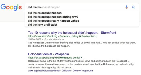 google holocaust