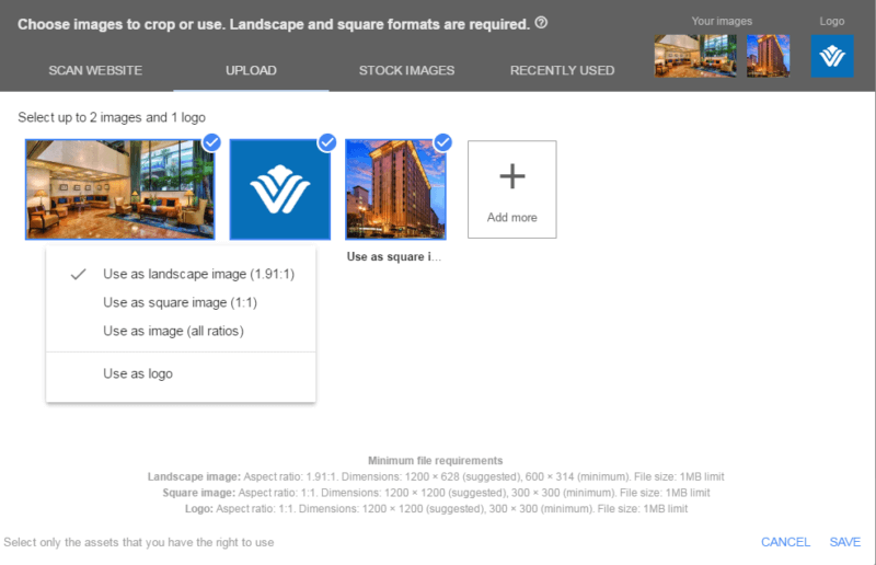 Google is rolling out updates to responsive ads and requiring a square image in addition to a landscape image..
