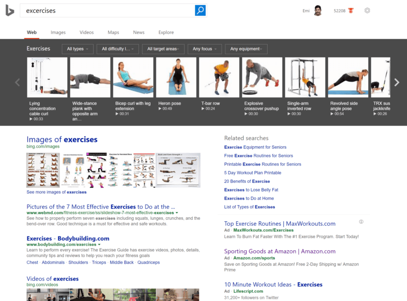 bing-exercises-search