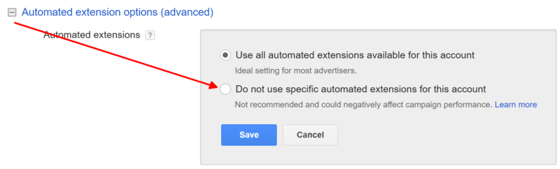 adwords-automated-extensions-opt-out