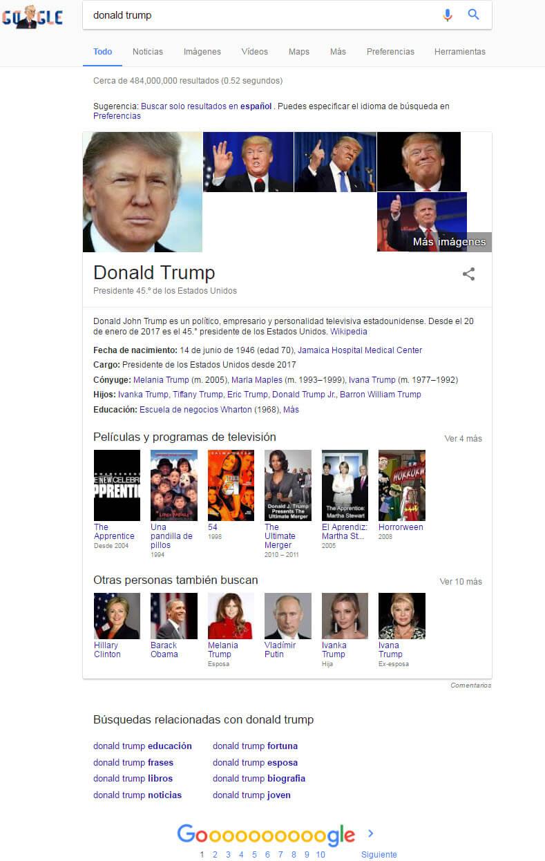 Donald Trump Spanish