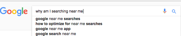 why am i searching near me