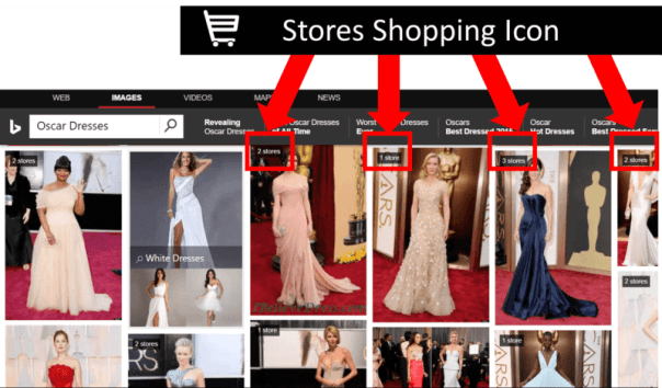 Stores and Products available for purchase within image search