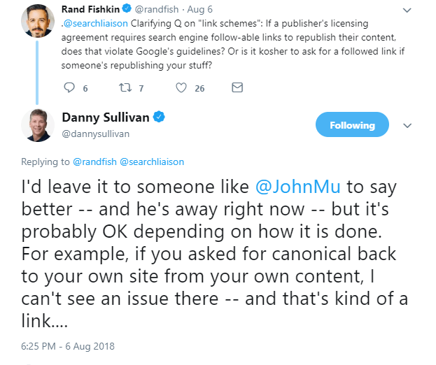 DannySullivanlinktweet2 This SEO nerd says its OK to ask for links