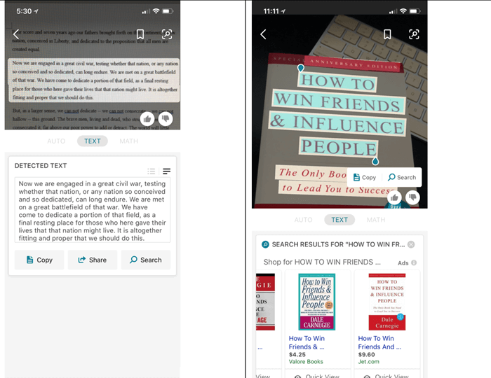Text-Transcription.png Bing improves visual search, adds educational carousel, American Sign Language and NFL answers