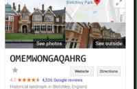 Google Easter egg: Bletchley Park
