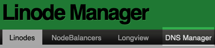 Linode DNS Manager Button